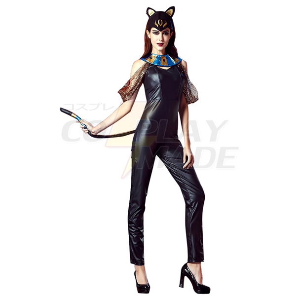 Sexy Egyptian Catwoman Cat Goddess Jumpsuit Costume
