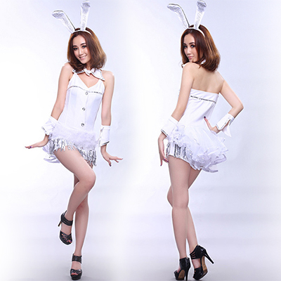 Popular Sexy White Rabbit Costume Cosplay Halloween
