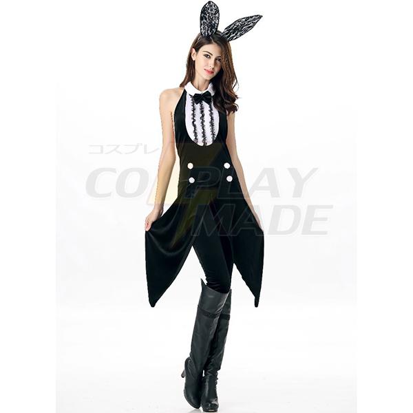 Bunny Mädchen Film Schwarz Solid Leotard Kostüme Cosplay Kostüme Halloween