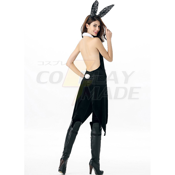 Kanin Piger Film Sort Solid Leotard Kostume Cosplay Halloween