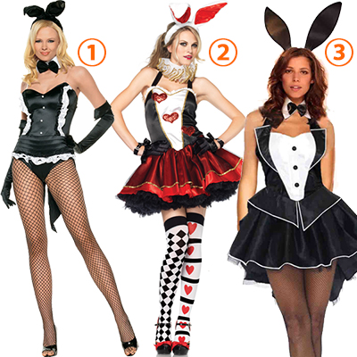 Playboy Bunny Dress Rabbit Costume Cosplay Halloween