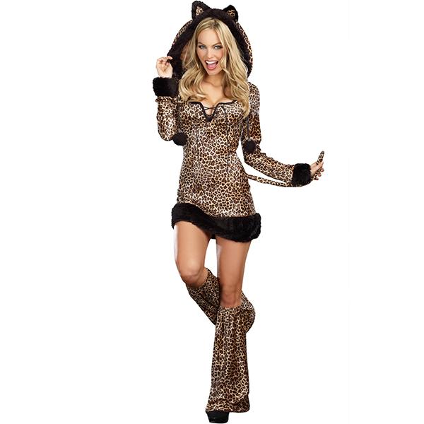 Cute Cheetah Mädchen Katzenfrau Kostüme Cosplay Kostüme