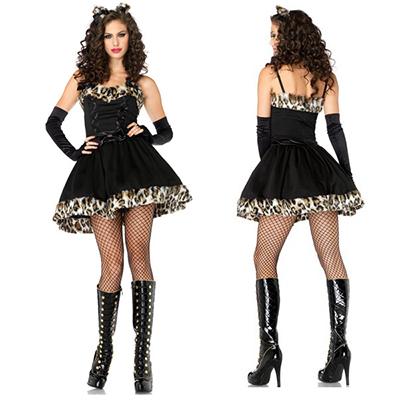 Frisky Feline Catwoman Kostuum Cosplay Carnaval Halloween