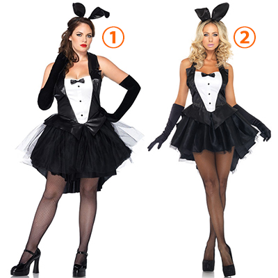 Plus Size Sexy Playboy Bunny Costume Rabbit Dress Halloween