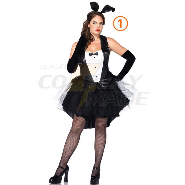 Plus Size Sexy Playboy Bunny Kostüme Hase Kleider Halloween