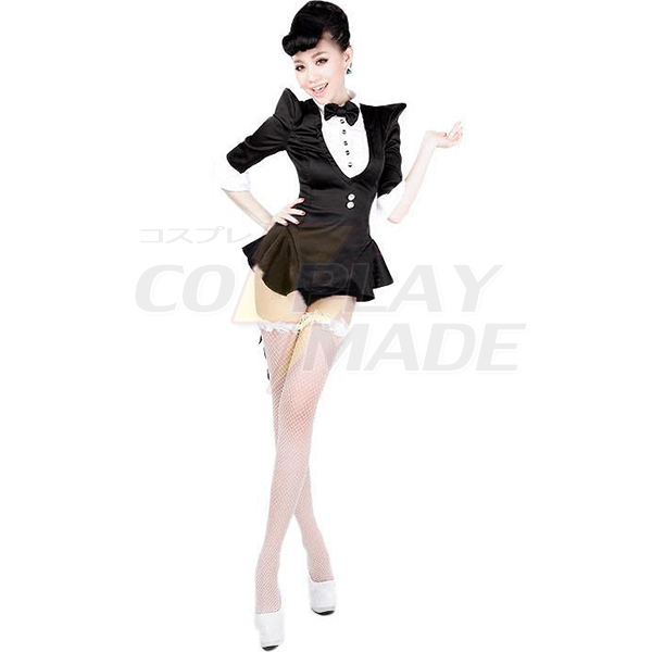 Adult Ladies Tuxedo Costume Magician Cosplay Halloween