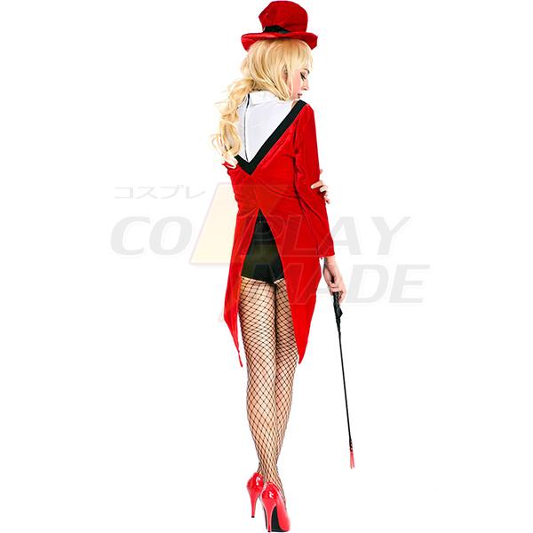 Rot Magician Christmas Fancy Kleider Halloween Kostüme Circus Trainer Cosplay Kostüme