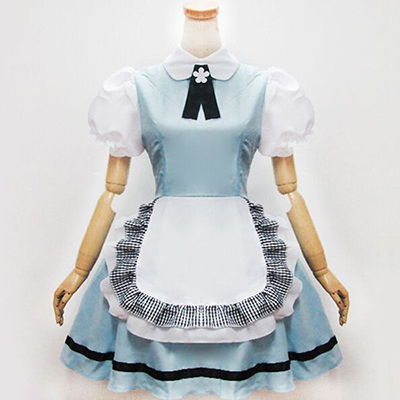 Cosplay Anime Costume Blue Sky Japanese Maid Costume