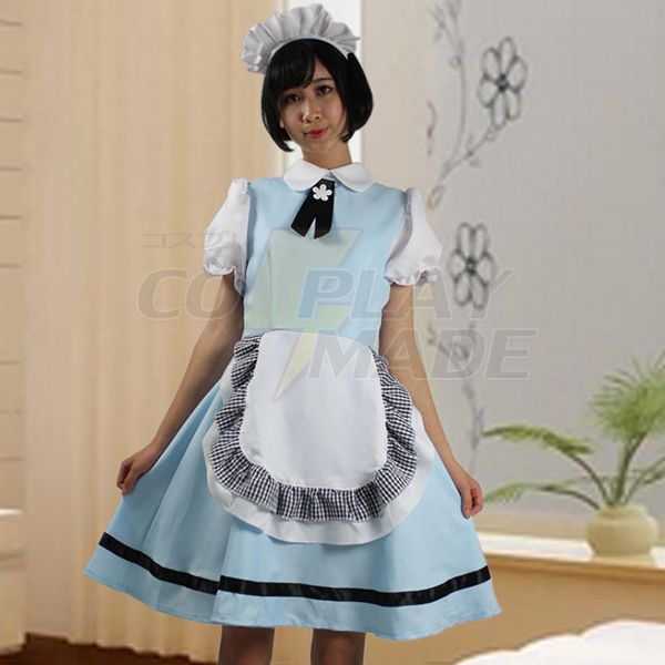 Cosplay Anime Kostuum Blauw Sky Japans Meid Kostuum