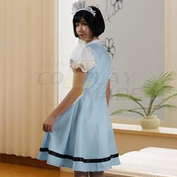 Cosplay Anime Costume Blue Sky Japanese Maid Costume