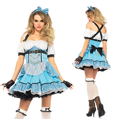 Populaire Alice In Wonderland Maid Costume Cosplay Carnaval