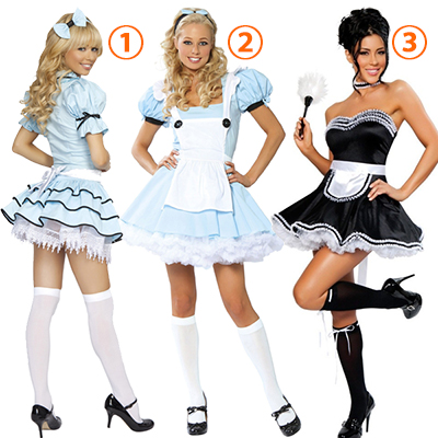 Womens Alice Sexy Alice Maid Costume Cosplay