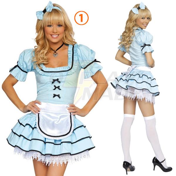 Womens Alice Sexy Alice Maid Costume Cosplay
