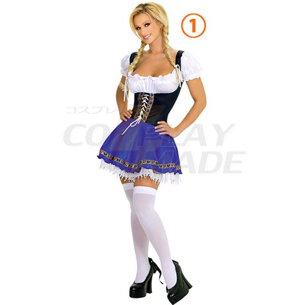 Maid Halloween Costume Beer Nightclub DS Clothing Japanese Uniforms