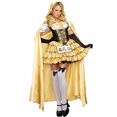 Popular Amarelo Goldilocks Fantasias Cosplay Halloween Carnaval