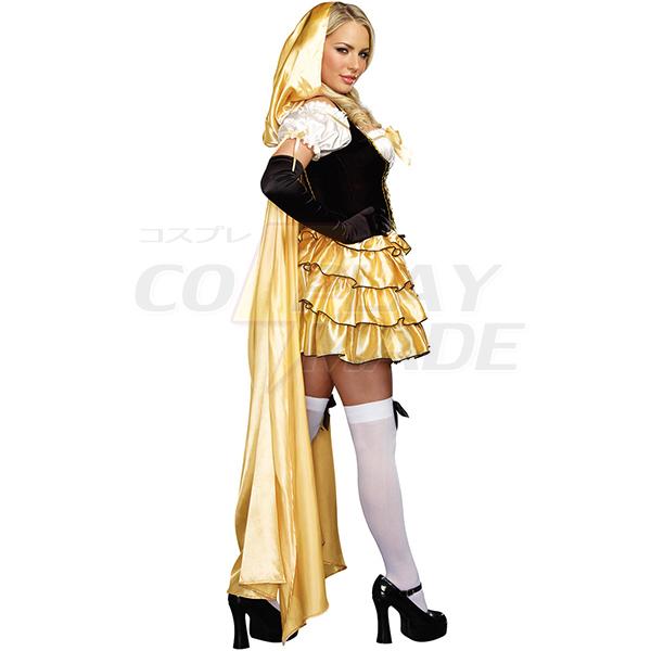 Popular Yellow Goldilocks Costume Cosplay Halloween