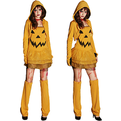 Featured Pumpkin Role Play Suit Halloween Cosplay Kostymer Karneval