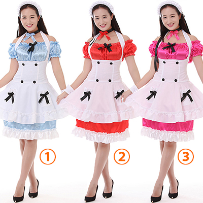 Personagens Actress Maid Mounted Three-color Maid Mounted Fantasias Cosplay