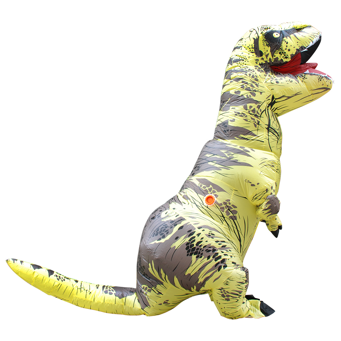 Erwachsene Gelb Polyester T-REX Aufblasbar Dinosaurier Kostüm Halloween Faschingskostüme