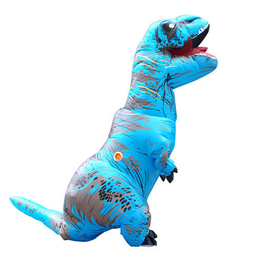 Carnival Dress Adult Blue T-REX INFLATABLE Dinosaur Costume Fancy Dress Cosplay Animal Jumpsuit Halloween Costume for Women