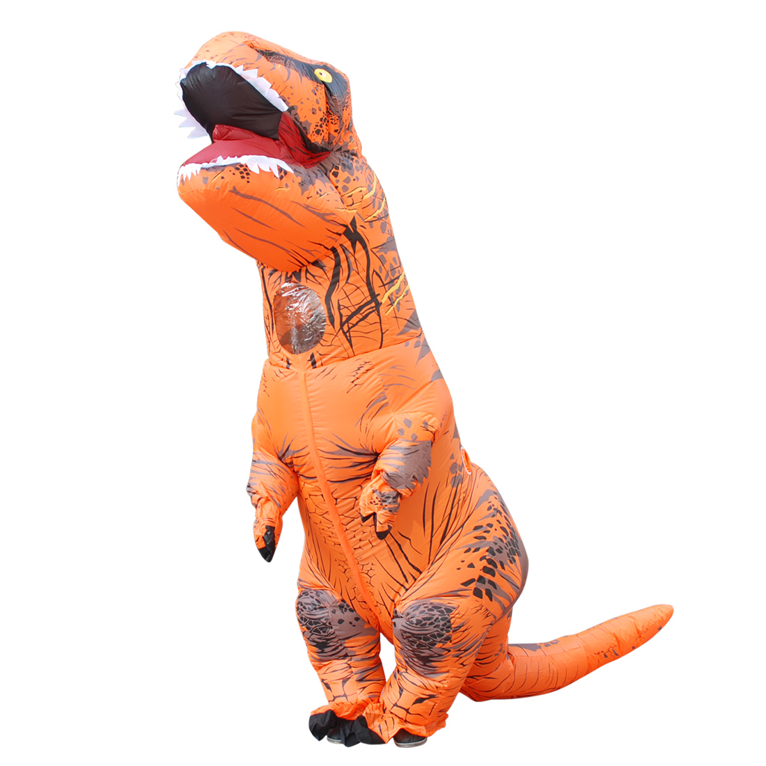 Orange T-REX Inflatable Dinosaur Costume Halloween Jumpsuit Carnival