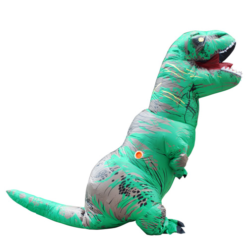 2017 Retail Sale Disfraz Adulto Green INFLATABLE Dinosaur Costume Halloween Costume for Men Party Dress Adult