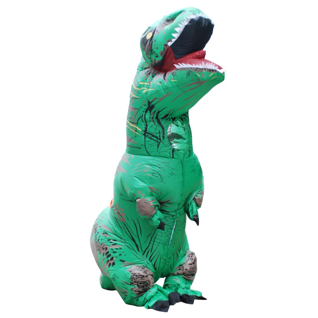 Einzelverkauf Disfraz Erwachseneo Grün Aufblasbar Dinosaurier Kostüm Halloween Faschingskostüme