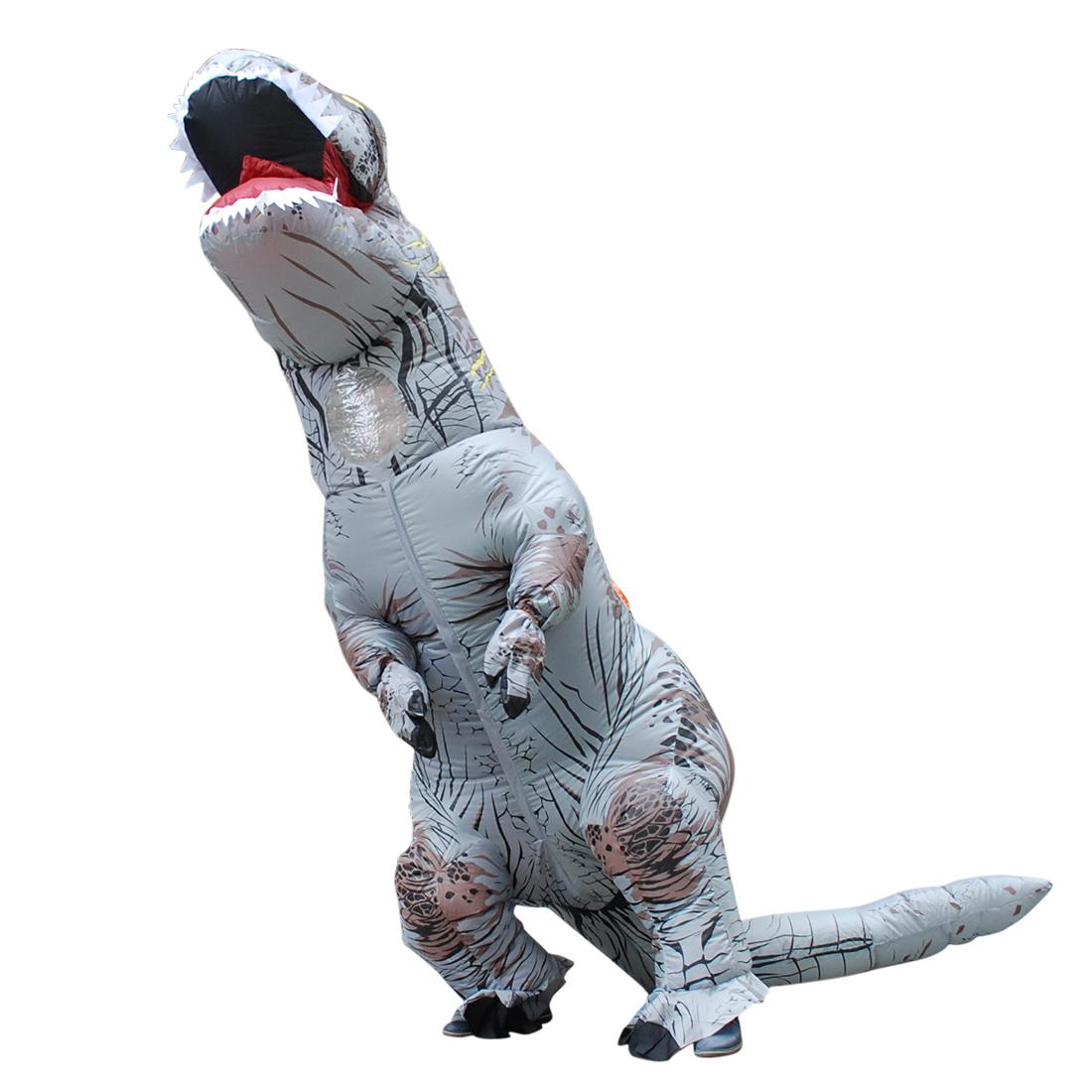 T-REX Aufblasbar Dinosaurier Kostüm Verrücktes Kleid Halloween Cosplay Kostüme