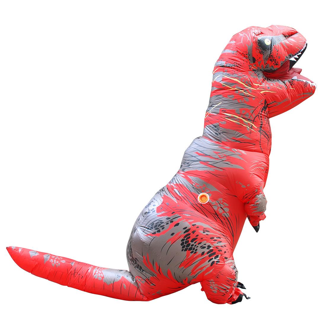 Disfraces Adultos Red T-REX Inflatable Dinosaur Costume Halloween