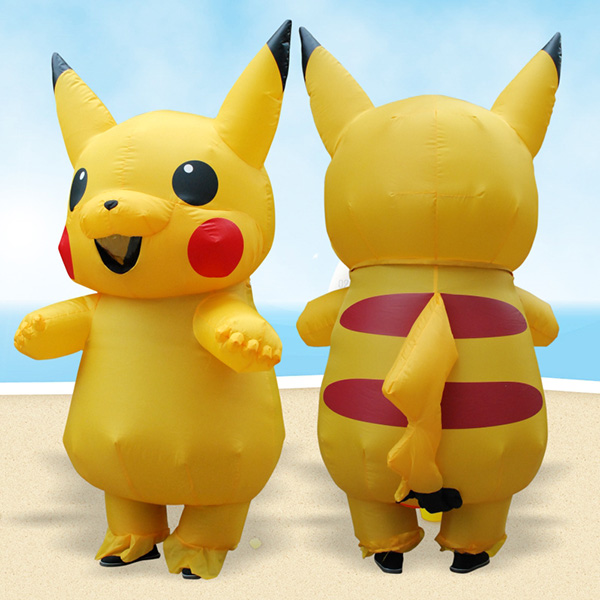 Adulto Gonfiabili Pokemon Pikachu Costumi Halloween Cosplay
