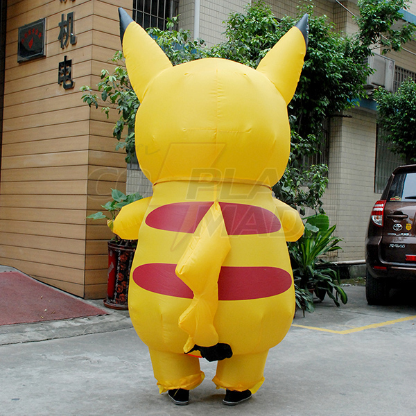 Adult Inflatable Pokemon Pikachu Costume Halloween Cosplay