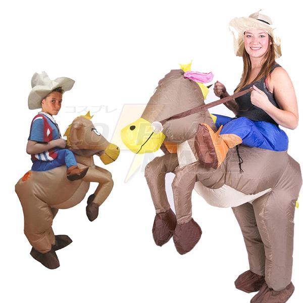 Erwachsene Aufblasbar Cowboy Dinosaurier Kostüm Ride Halloween Faschings Kostüme