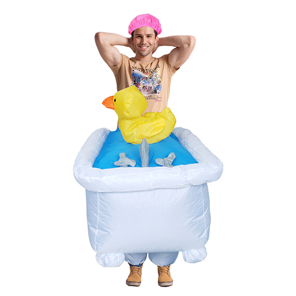 Adult Inflatable Bathtub Costume Halloween Cosplay