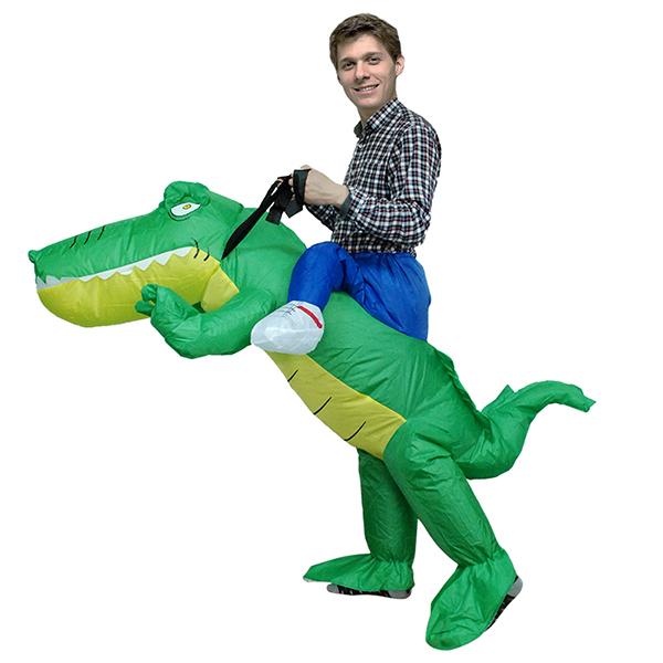 Adult Inflatable Carry Me Crocodile Costume Cosplay Outfit