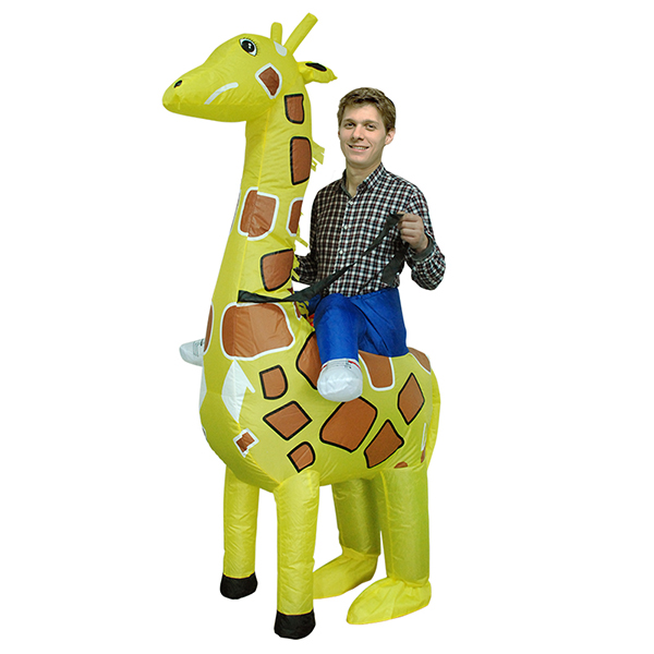 Adulte Gonflable Carry Me Girafe Costume Cosplay Tenues Carnaval