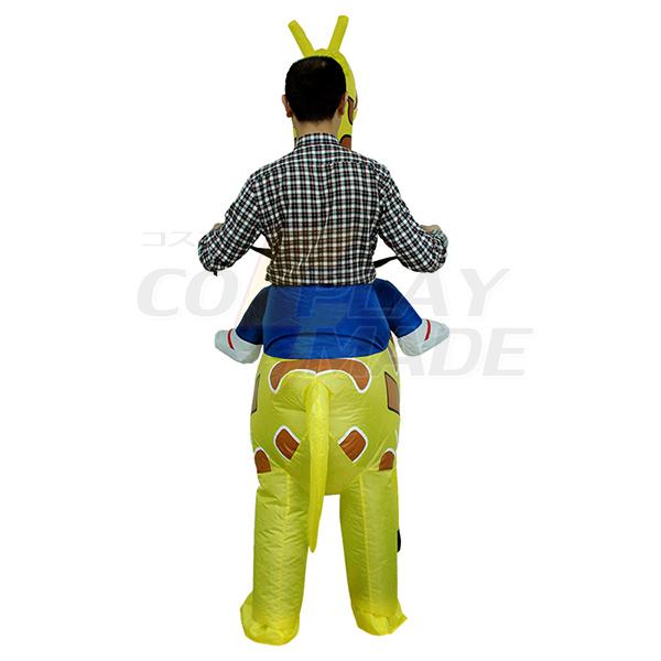 Voksen Oppustelig Carry Me Giraf Kostume Cosplay Udklædning Fastelavn