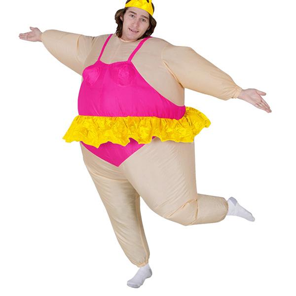 Voksen Oppustelig Carry Me Ballerina Kostume Cosplay Udklædning Fastelavn