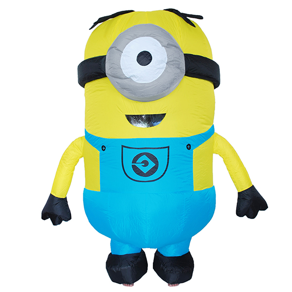 Adult Inflatable One eyes Minion Costume Halloween Cosplay