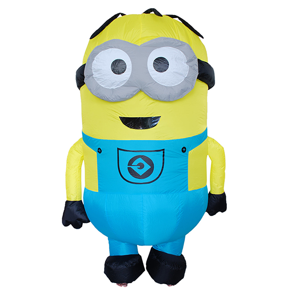Adult Inflatable Two eyes Minion Costume Halloween Cosplay