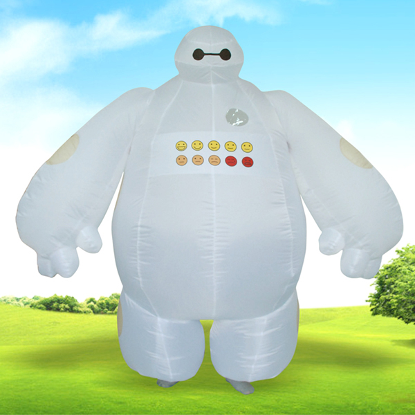 Adulte Gonflable Big Hero 6 Baymax Costume Halloween Cosplay Carnaval