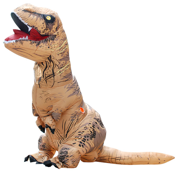 Adulto Inflable Marrón T-rex Disfraz Halloween Cosplay Carnaval