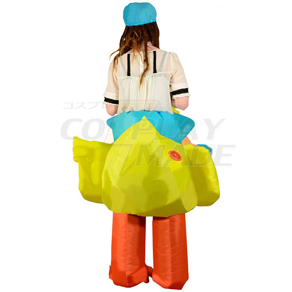 Adult Inflatable Carry Me Yellow Duck Costume Cosplay