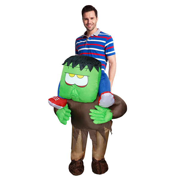 Adult Inflatable Carry Me Horrible Ride on Frankenstein Monster Costume Cosplay
