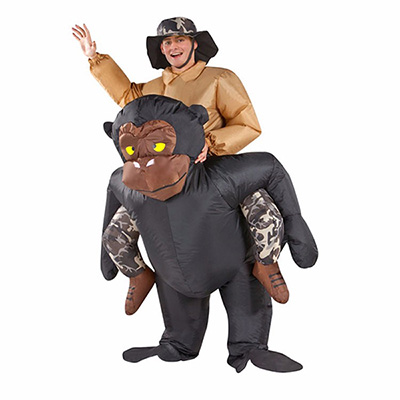 Adult Blown Inflatable Carry Me Gorilla Costume Cosplay
