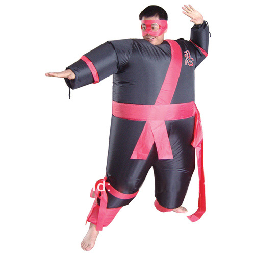 Adulto Inflable Samurai Disfraz Ninja Divertido Halloween Cosplay