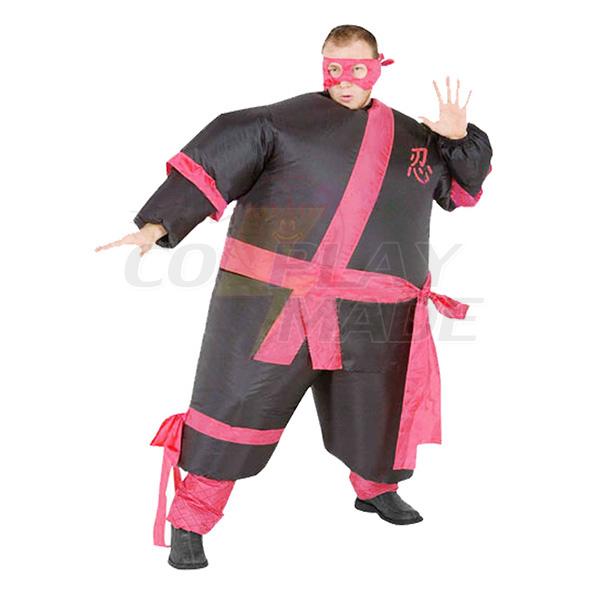 Voksen Oppustelig Samurai Kostume Sjov Ninja Halloween Cosplay