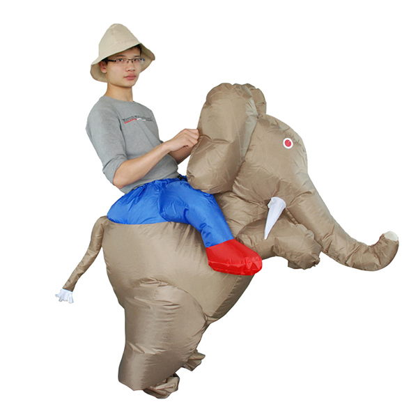 Adulto Inflable Elephantidae Disfraz Halloween Cosplay Carnaval
