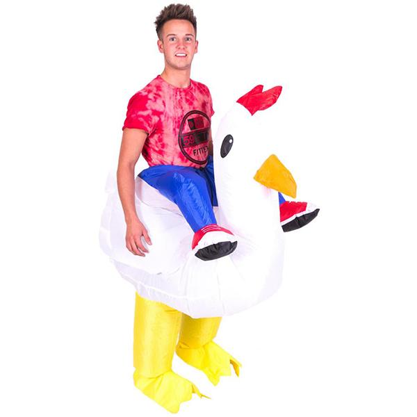 Voksen Oppustelig Kylling Kostume Halloween Cosplay Fastelavn
