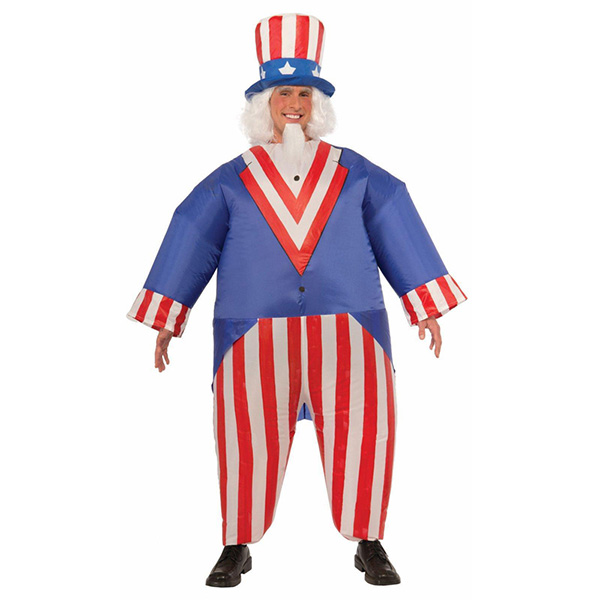 Adult Inflatable Uncle Sam Costume Halloween Cosplay