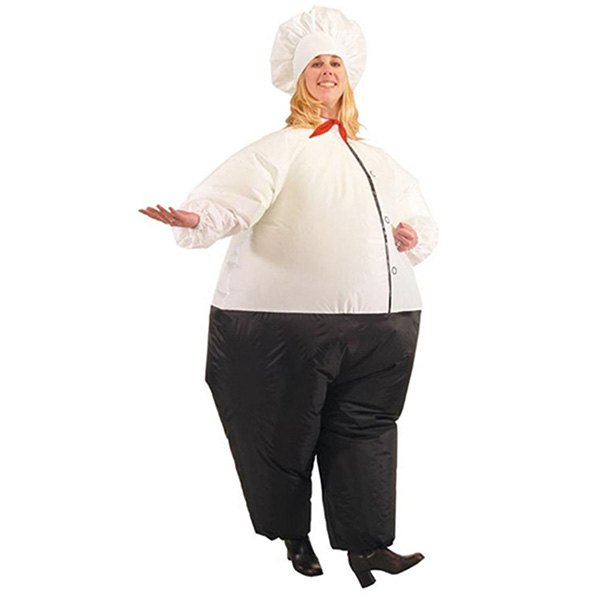 Adult Inflatable Suits Blow Up Chief Cook Costume Halloween Cosplay